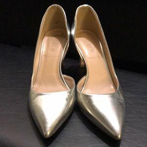 Shoes - J. Crew Valentina Mirror Metallic Pumps
